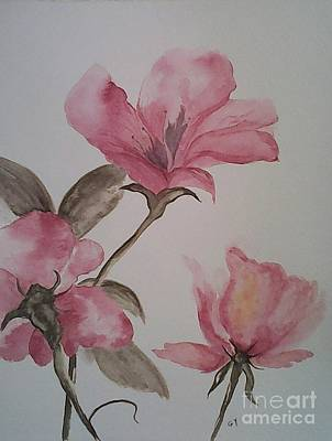 Painting - Pink Floral by Ginny Youngblood