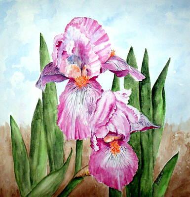 Painting - Pink Iris by Carol Grimes