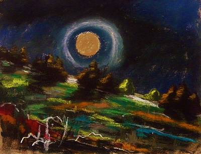 Drawing - Pink Moon by John Williams