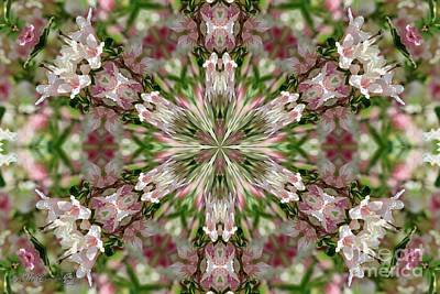 Digital Art - Pink Splash Kaleidoscope by J McCombie