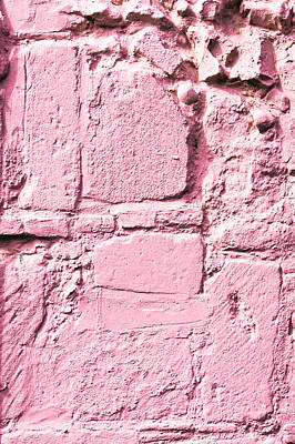 Stonewall Photograph - Pink Wall by Tom Gowanlock