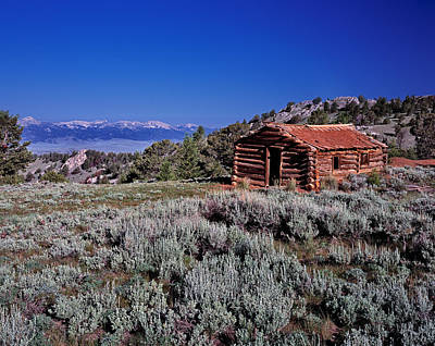Old Log Cabin Photograph - Pioneer Cabin by Leland D Howard