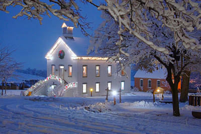 Photograph - Pioneer Church At Christmas Time by Utah Images