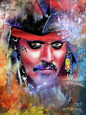 Painting - Pirate by Daniel Janda
