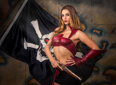 Photograph - Pirate Wench by Rikk Flohr