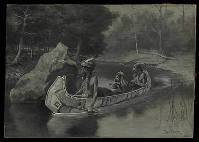 Pitched It Sheer Into The River    Where It Still Is Seen In The Summer Original by Frederic Remington