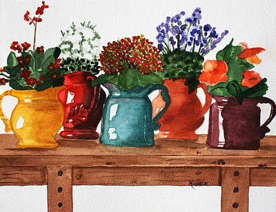 Pitchers In Bloom Art Print