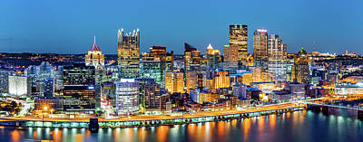 Photograph - Pittsburgh Downtown Panorama  by Mihai Andritoiu
