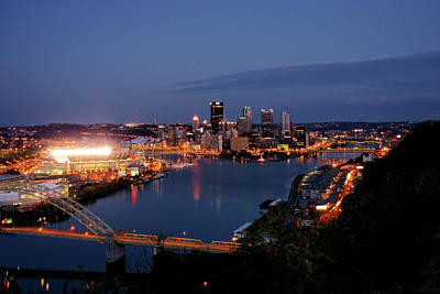 Photograph - Pittsburgh Skyline Blue Hour by Michelle Joseph-Long