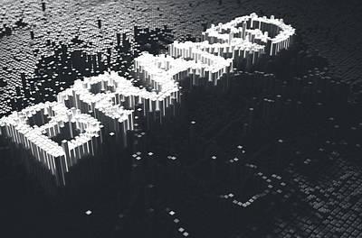 Cyberspace Digital Art - Pixel Brand Concept by Allan Swart