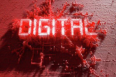 Numbers Digital Art - Pixel Digital Concept by Allan Swart