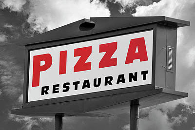 Photograph - Pizzeria Sign by Phil Cardamone