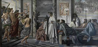 Plato's Symposium Art Print by Anselm Feuerbach