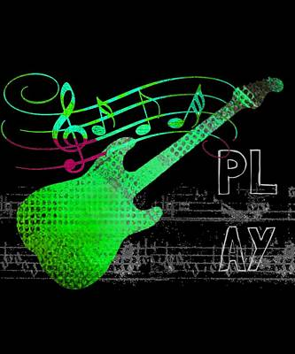 Digital Art - Play 3 by Guitar Wacky