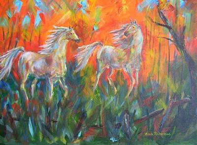 Painting - Play Mates by Linda Richardson