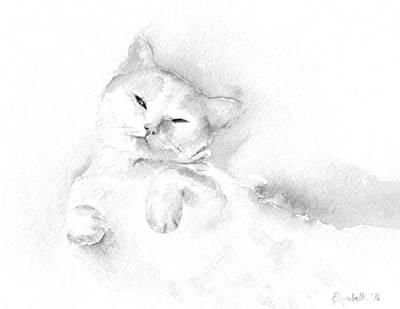 Painting - Playful Cat II by Elizabeth Lock
