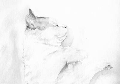 Mixed Media - Playful Cat Iv by Elizabeth Lock