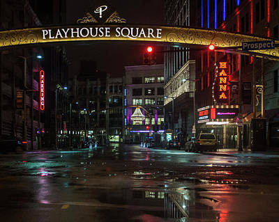 Photograph - Playhouse Square by Stewart Helberg