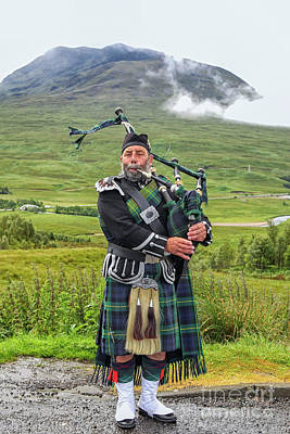 Photograph - Playing Bagpiper by Patricia Hofmeester