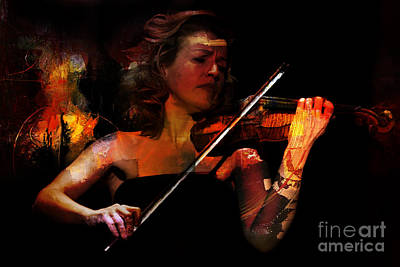 Violin Painting - Playing Violin by Gull G