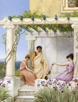 Playtime Painting - Playtime by John William Godward