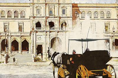 Painting - Plaza De Espana, Seville - 06 by Andrea Mazzocchetti