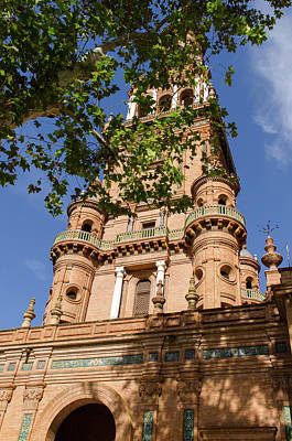 Architecture Photograph - Plaza De Espana Tower  by Andrea Mazzocchetti