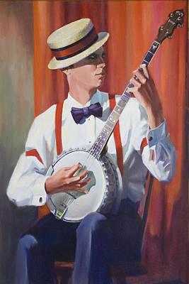 Banjo Painting - Plectrum Player by Bob Duncan