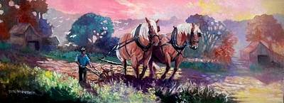 Painting - Ploughing  by Paul Weerasekera