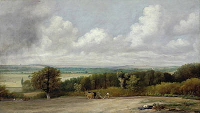 Idyllic Painting - Ploughing Scene In Suffolk by John Constable