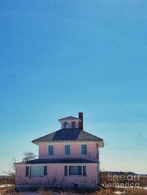 Photograph - Plum Island Pink House  by Mary Capriole