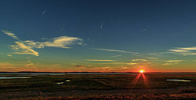 School Teaching - Plum Island Sunset by Henry Gray