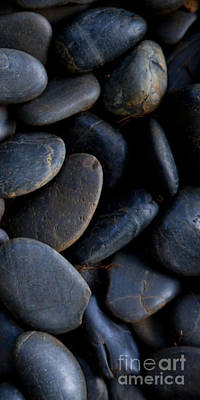 Zen Rocks Photograph - Plumeria Pebbles  - Part 3 Of 3 by Sean Davey