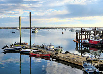 Photograph - Plymouth Harbor In October  by Janice Drew