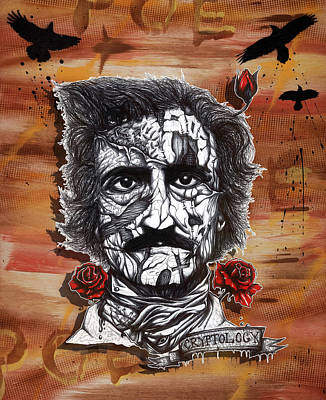 Toaster Mixed Media - Poe Toaster by Tai Taeoalii