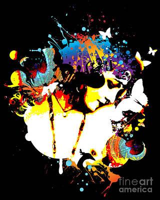 Nostalgic Seduction Digital Art - Poetic Peacock - Bespattered by Chris Andruskiewicz