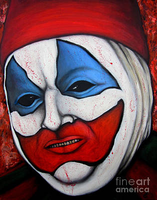 Evil Clown Painting - Pogo The Clown by Justin Coffman