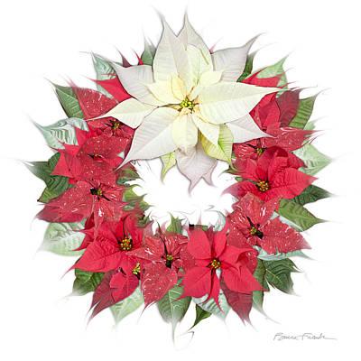 Photograph - Poinsettia Wreath by Bruce Frank