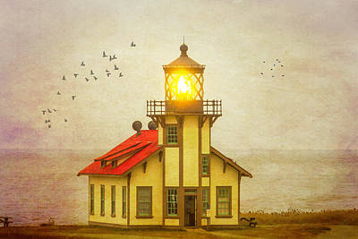 Photograph - Point Cabrillo Light Station 2 by Garry Gay