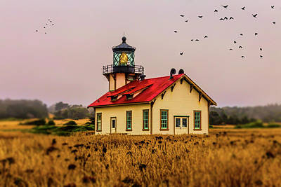 Photograph - Point Cabrillo Lighthouse by Garry Gay