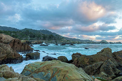 Photograph - Point Lobos At Sunset by Jonathan Nguyen