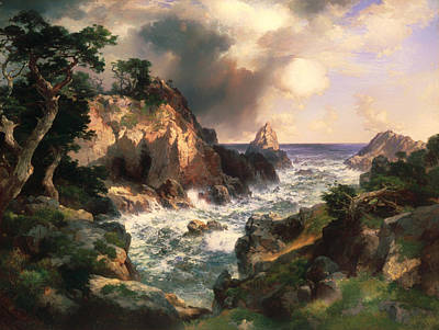 Point Lobos Painting - Point Lobos - Monterey California by Mountain Dreams