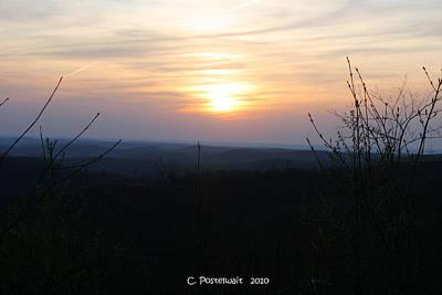 Point Mountain Sunset Art Print