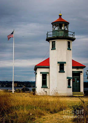 Photograph - Point Robinson  Lighthouse,vashon Island.wa by Sal Ahmed