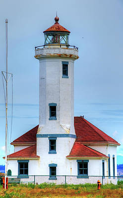 Photograph - Point Wilson Lighthouse 3 by Richard J Cassato