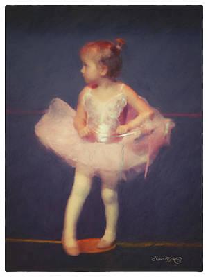 Dance Recital Digital Art - Point Your Toe by Susan  Lipschutz