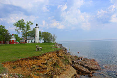 Photograph - Pointe Aux Barques Lighthouse by Michael Rucker