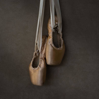 Sacred Pointe Shoes Art Print