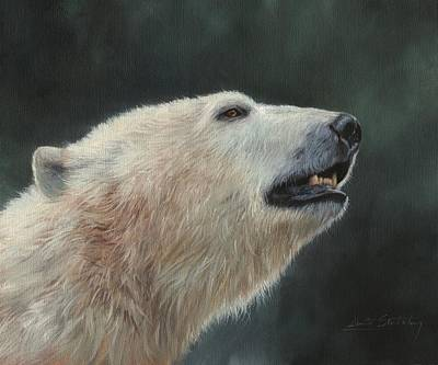Painting - Polar Bear by David Stribbling