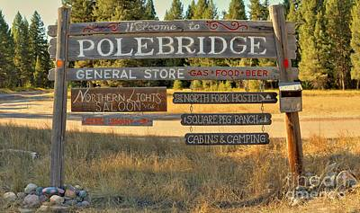 Polebrdge Welcome Sign Art Print